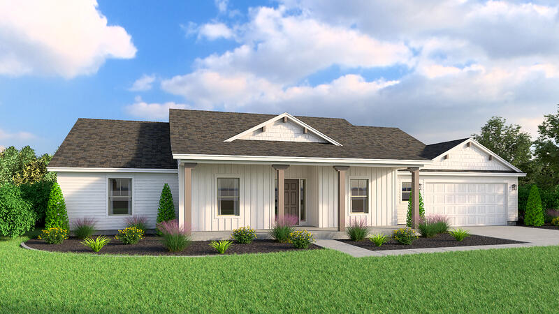 Ranch Home Plan Feature (Hedgefield Homes North Texas)