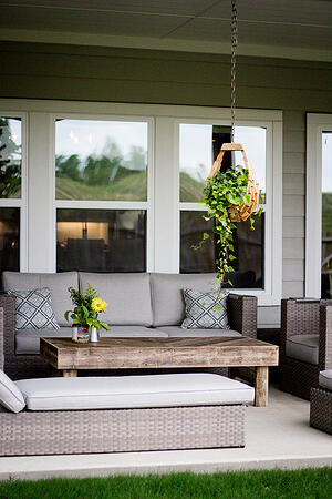 Covered Patio & Porch Home Design (Hedgefield Homes North Texas)