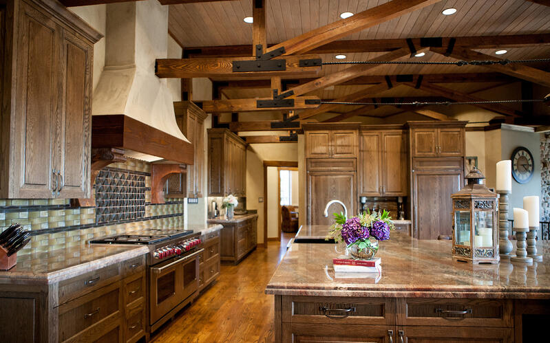 Custom Kitchen By Fully Custom Home Builders (3 Types of Home Builders)