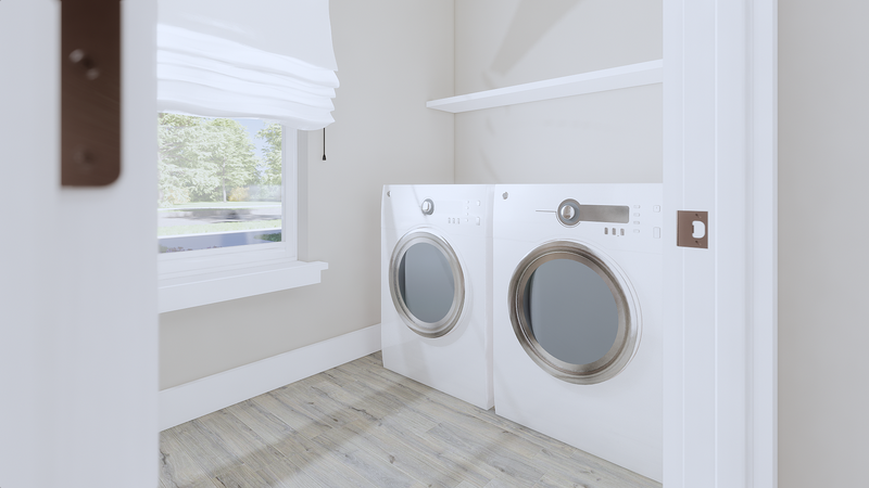 Convenient and Spacious Laundry Room: Options & Features for Custom Home