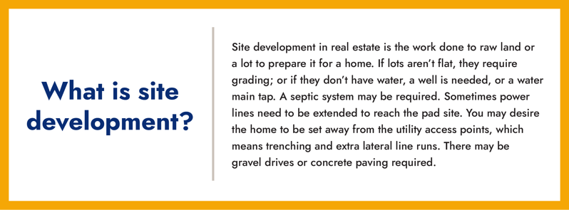 What is property site development (definition) info box