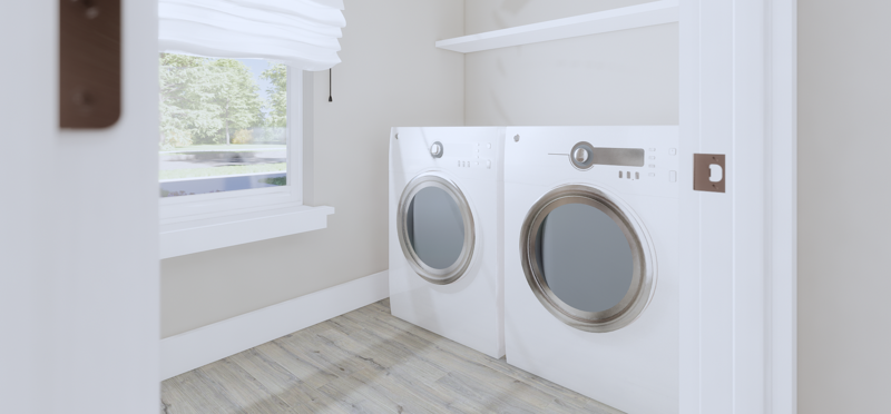 Spacious Laundry Room Home Design & Floor Plan (Hedgefield Homes)