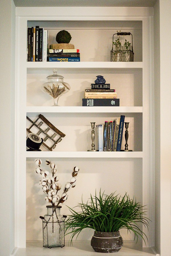 Home Design Accents: built in shelving