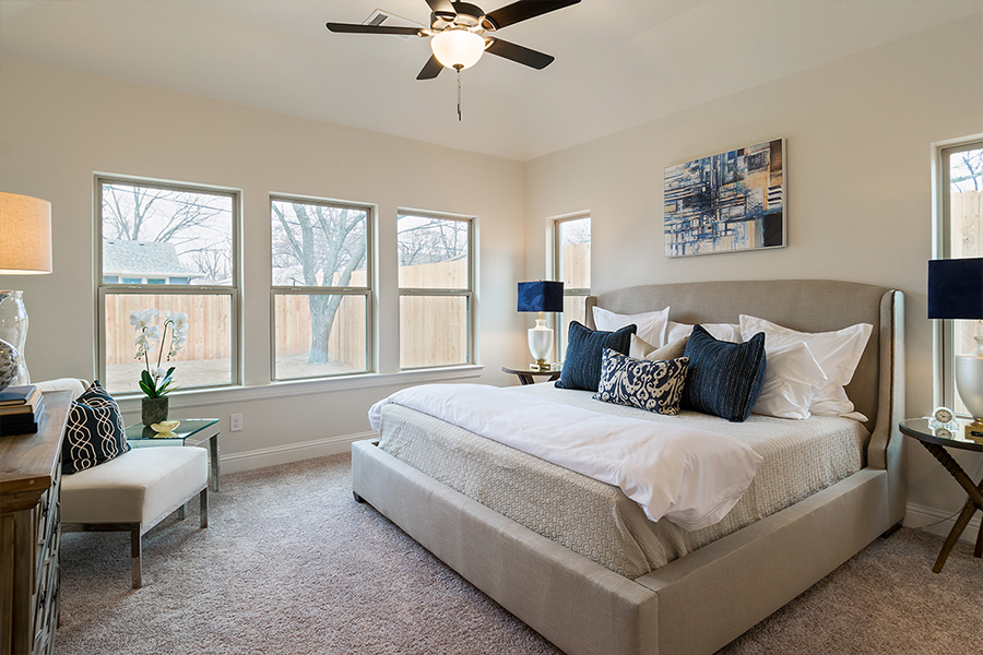 Bedroom Custom Home Design (Texas Homes): Bedroom With King Bed